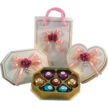 Boîte de chocolat créatif / sac de chocolat avec plateau et ruban