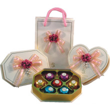 Caixa de Chocolate Criativa / Saco de Chocolate com Bandeja e Fita