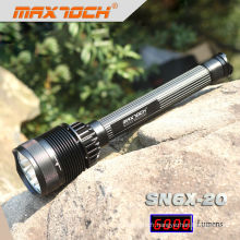 Maxtoch SN6X-20 7 * CREE XML T6 haute puissance LED Rechargeable plus brillants Flashlihgt