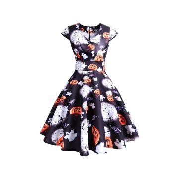 Halloween Spider women's Euro &American retro vintage Dress