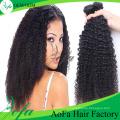 100%Необработанные Монгольских Kinky Вьющиеся Человеческих Волос Девственницы Remy Волос