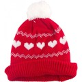 Jacquard Knitted Hat with Pompom