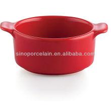 Красная керамическая тарелка для кастрюли для BS12084A