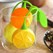 Lemon Shaped Silicone Perforated Tea Filter Infuser