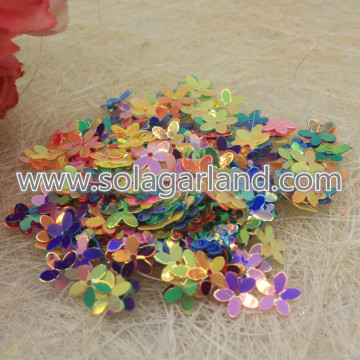 10*2MM Flower Shape Laser Sequins Sewing Beads Jewelry