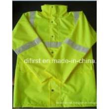 High Visibility Safety Reflective Jacket with Crystal Tape