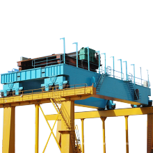 CE/GOST Certificated Double Girder Overhead Traveling Crane With Cabin