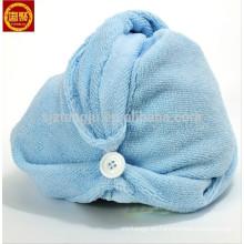 Hecho en China Hair Turbante, gorras de poliéster, gorras de toalla de microfibra