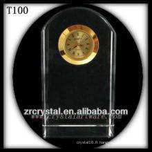 K9 Blank horloge en cristal pour la gravure au laser