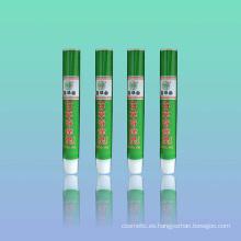 Aluminio y plástico tubo cosmético crema cuidados medicinales
