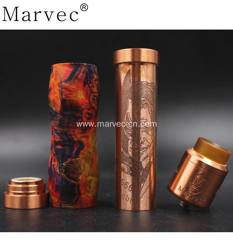 Marvec stable wood material purehand polished mechanicalkit