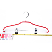 KINDOME Wholesale PVC coating metal clothes hangers with clips for suit