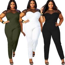 Rango de tallas L XL 2XL 3XL 4XL mujeres de moda las mujeres Vestido de talla grande más trajes de tamaño maxi mono