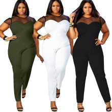 Faixa de tamanho L XL 2XL 3XL 4XL mulheres moda feminina Plus Size vestido plus size vestidos maxi macacão
