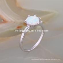 925 Sterling Silver White Fire AAA Opal anillo de diseño para hombres anillo de plata con piedra de ópalo 925 Sterling Silver White Fire AAA anillo de ópalo diseño para hombres anillo de plata con piedra de ópalo