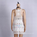 Cotton Crochet Beach Cover Up White Wear Swimwear