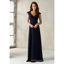 V Neck Chiffon Bridesmaid Evening Gowns