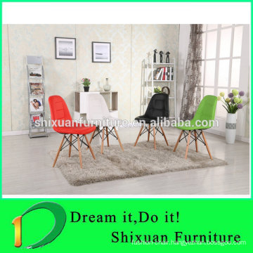 hot selling PU seat wood legs living room chair