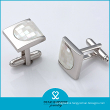 Rhodium Plating Fashion Square Cufflink with Factory Price (BC-0003)