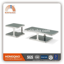 CT-01ET-01 modern coffee table end table stainless steel table in glass tables