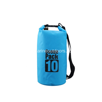 500D PVC Durable 10L Impermeable Transparente Bolsa seca