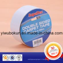 Rubans translucides double face certifiés ISO SGS (support de papier enduit d'adhésif acrylique)