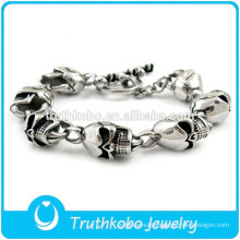 TKB-B0154 Silver Cool Style North Skull Bracelet For Mens Jewelry Wholesale