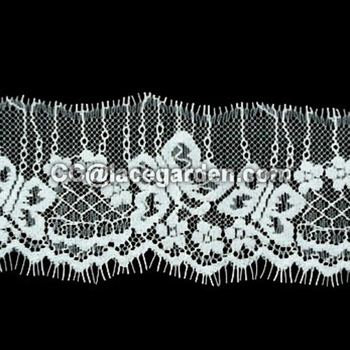 Eyelash Lace Decorated In Dress