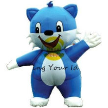 Blue Inflatable Castle Bouncer Moving Cartoon For Children / Outdoor