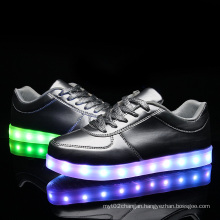 Fashion PU Leather USB LED Light Shoes