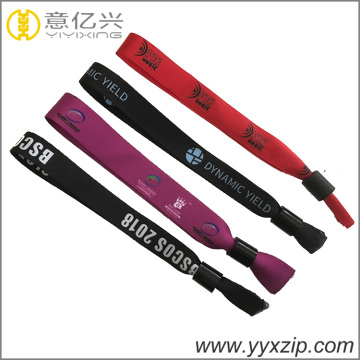 Disposable heat transfer adjustable fabric wristband