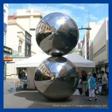 Miroir polissage en acier inoxydable balle sculpture