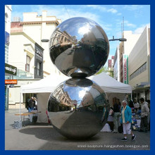 Mirror polishing stainless steel ball sculpture