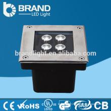 IP65 4X1W Lumière souterraine LED carrée, DMX512 LED Lumière souterraine RGB