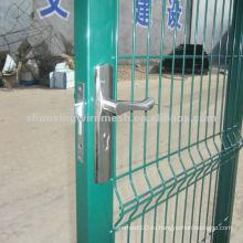 Ворота из ПВХ с металлическим забором