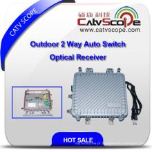 Outdoor saída de 2 vias Auto-Switch receptor óptico com AGC Csp-1011