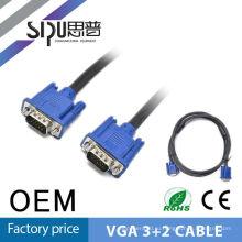 SIPU 1,5 м мужчины к мужчине 3 + 2 Золотой разъем vga кабель метров