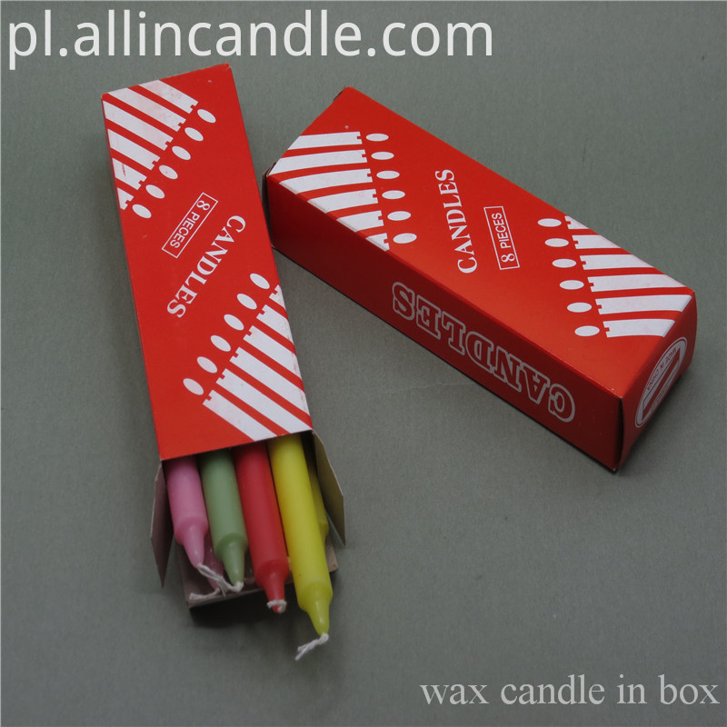 white Candle In Box