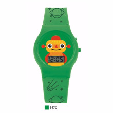 Promotional gift carton watch for  kids with digital led watch can customize oem for gift