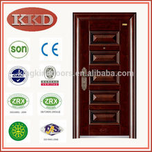 Popular de luxo residencial segurança Exterior porta KKD-101With CE, BV, SONCAP