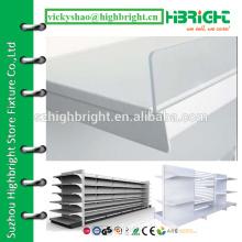 clear acrylic shelf riser for supermarket shelving racks