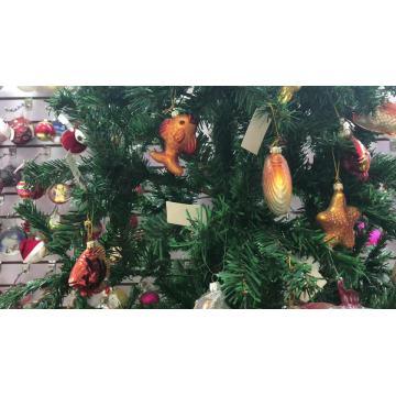 caja de regalo de navidad de cristal adornos para el árbol de navidad