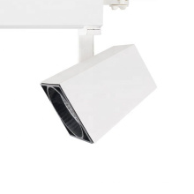 Clothing shop supermarket room 220v 40w 50w zoomable round cob dimmable led tracklight connect white silver color track light
