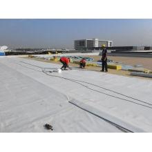 Material resistente al agua PVC resistente a la luz ultravioleta para techos expuestos