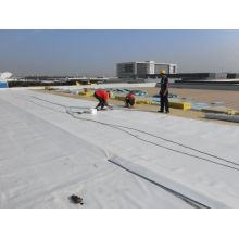 Material impermeável de PVC resistente à radiação ultravioleta para coberturas expostas