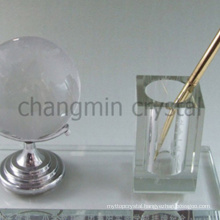 elegant office crystal pen hold golf ball set