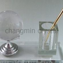 caneta de cristal elegante escritório segurar o conjunto de bola de golfe