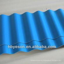 Folha de cobertura ondulada pré-pintada