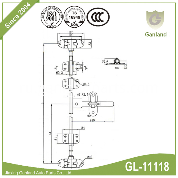 trailer door lock specification GL-11118