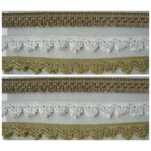 Alta qualidade moda crochet laços para almofada aparar decoração para casa